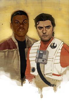 Poe Dameron & Finn - i am not in favor of stormpilot but i love them as buddies.