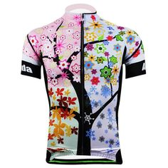 Cherry Bloom Cycling Jersey for Women