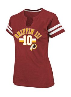Aptly named t-shirt! Ha. Think I'm investing in a jersey this year, but this one's a cute standby ... Ladies Redskins Robert Griffin III My Crush T-Shirt