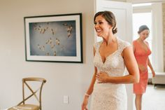 First look with bridesmaids. Wedding at The Cordelle in Nashville, Tennessee.