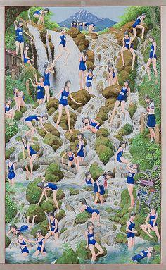 negativeoffice:    Picture of Waterfall, 2007-10  Makoto Aida  Courtesy: Mizuma Art Gallery.