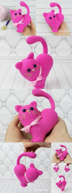 This rotund pink kitty is an unusual expansion to your gathering of amigurumi creatures. link has the free example of crochet pattern and how to make … – Amigurumi Model listing Knitted Baby Blankets, Baby Girl Blankets, Knitted Booties, Knitted Bags, Cute Crochet, Crochet Yarn, Creative Knitting, Crochet Leaves, Baby Dinosaurs