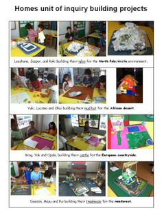 PYP Inquiry based Homes around the world. Kindergarten Inquiry, Inquiry Based Learning, Preschool Lessons, Project Based Learning, Learning Centers, Stem Projects, Book Projects, Ib Classroom, Classroom Promise