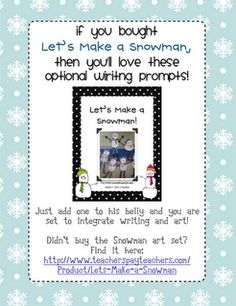 Let's Make a Snowman...writing activity to go with snowman