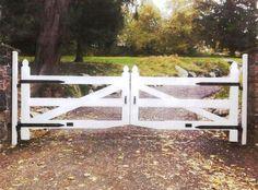 Wood 3-Rail Post and Rail Automated Driveway Gate