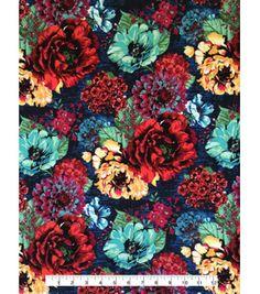 ee97878a55a Knit Apparel Fabric 57\u0022-Multi Shana Floral, Fabric Embellishment,  Embellishments,