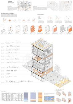 Europan 14 on Behance Architecture Program, Architecture Concept Diagram, Pavilion Architecture, Architecture Board, Architecture Graphics, Architecture Visualization, Architecture Drawings, Architecture Design, Landscape Architecture