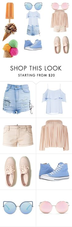 """""""Ice Scream, You Scream. We all scream for ICE CREAM!"""" by siamesegeneral on Polyvore featuring BB Dakota, Armani Jeans, Elizabeth and James, Hollister Co., Converse and Matthew Williamson"""