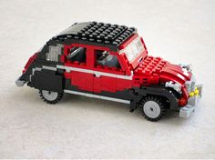 A #2CV made of bricks, because we could never get tired of classic cars!