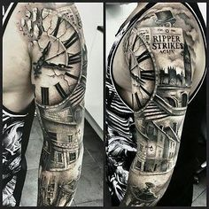 Uhr Ärmel Mehr Bilder auf www.tattoogram.co #tattoo #tattoos #tat #ink #inked #Tattoogram #tattooed #tattoist #coverup #art #design #instaart #instagood #sleevetattoo #handtattoo #chesttattoo #photooftheday #tatted #instatattoo #bodyart #tatts #tats #amazingink #tattedup