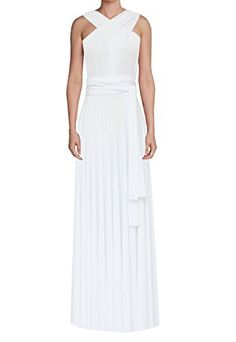 E K Convertible multiway maxi dress Long infinity wedding gownXsMWhite * Read more reviews of the product by visiting the link on the image.