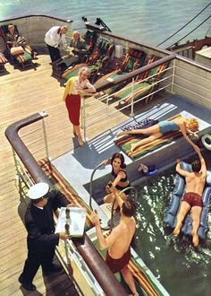 Swimming onboard