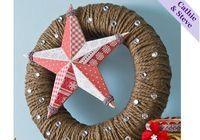 Decoupage - Holiday Yarn and Star Wreath