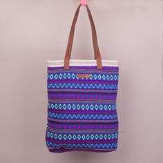 Becksondergaard Adele Blue Moon tote bag. Beautifully embroidered in a delicious geometric design.