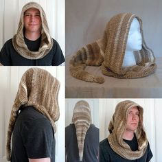 Hooded Cowl with Liripipe - Cappuccino by BowsysBoutique http://etsy.me/2fboLqB #cosplay #renfair #liripipe #fantasycostume