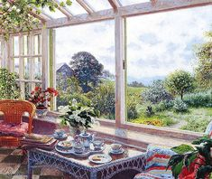 Stephen Darbishire 1940   British Interiors and Landscape painter