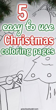 Easy to use Christmas coloring pages for toddlers and preschoolers Christmas Bells, Christmas Pictures, Christmas Colors, Christmas Time, Toddler Fun, Toddler Preschool, Free Christmas Printables, Free Printables, Kindergarten Age