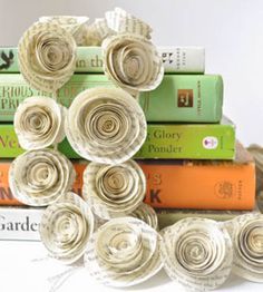 Recycled Book Page Garland