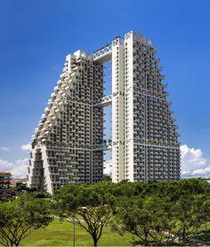 Sky Habitat Singapore / Moshe Safdie   Source