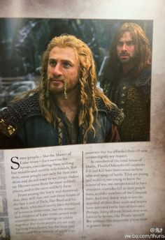 Fili and Kili from The Battle of the Five Armies: Movie Guide Visual Companion