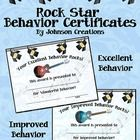 """Reward and reinforce excellent and improved behavior with these 2 cool rock themed certificates. Both certificates are 11"""" x 8 ½"""". They are great f..."""