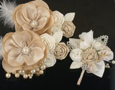 Satin and Organza Flowers and Pearls
