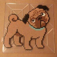 Pug dog perler beads by eenafets