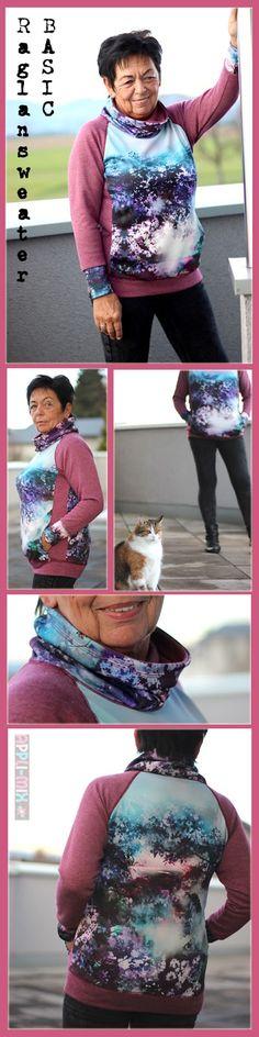 ... dachte sich Rosita - und schon suchte sie sich die Stoffe für ihren nächsten BasicRaglansweater  zusammen.   Dieses Mal sollte eine beso...