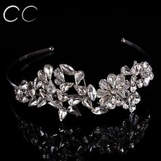 Luxury Top Flower Shape Brides Crowns Jewelry Crystal Tiaras for Women Wedding Party Engagement Fashion Hair Accessory F003 #Affiliate