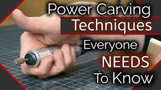 Wood Carving/Power Carving: Techniques You NEED To Know.