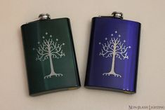 Lord of the Rings 8 oz Tree of Gondor Flask this would be a great gift for the groomsmen in a Themed Wedding!