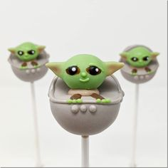 Baby Yoda Cake Pops made by Super Baked Goods