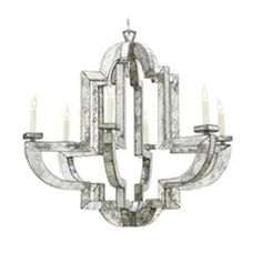 Antique mirrored chandelier
