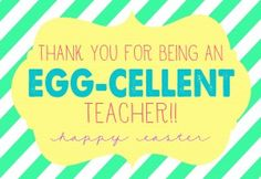 Easter - Thanks for being an egg-cellent teacher-2