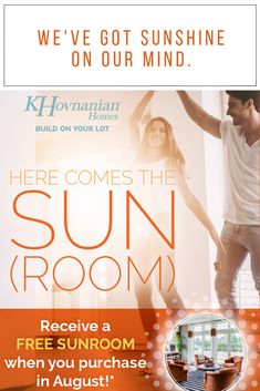 Hello, sunshine! ☀️ A creative play on words never goes out of style when it comes to a #campaignflyer. Homebuyers received a free #sunroom when building with K. Hovnanian Homes in August 👍