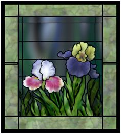 Done years ago BC [before Corel].   I love spending a lot of time trying to create the look of stained glass using ArcSoft Photo Studio. There is no program to do this - I do a lot of cloning at various transparency levels, and a lot of gaussian blurring. All non-straight lines are freehand.