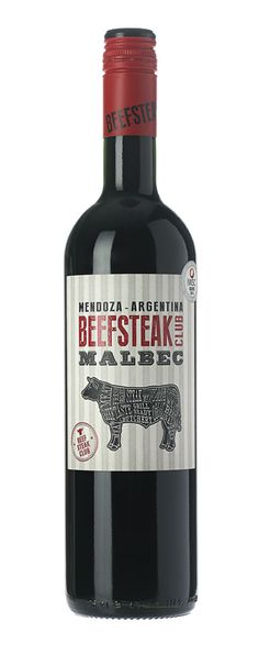 Beefsteak Club Malbec, Mendoza, Argentina, 2013. This deep, vibrant Malbec has an intense nose of plum and dark chocolate. Spicy, juicy and richly layered with well integrated oak and fine-grained tannins. Ideal with rich cheeses, spiced dishes and of course, juicy steaks.