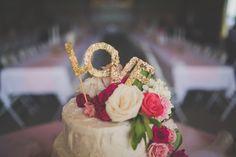 DIY Gilded Cake Topper for Garden Party Wedding