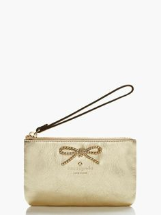 This golden wristlet by Kate Spade is perfect for a night on the town.