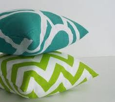 lime and turquoise cushions