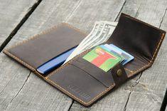 Passport holder monogramed passport wallet от BlackBrierLeather