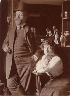 Colette and Willy - her first husband she married very young in 1893.  A popular writer, he encouraged her to write her memoirs which he then published under his name..
