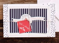 Nautical Wedding Invitations by Suite Paperie via Oh So Beautiful Paper (1)