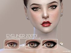 S-Club WM ts4 eyeliner 201701  Created for: The Sims 4  Eyeliner for all age, 2 styles  http://www.thesimsresource.com/downloads/1367498
