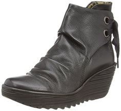 Fly London YAMA, Damen Kurzschaft Schlupfstiefel, Schwarz (Black 033), 36 EU - http://on-line-kaufen.de/fly-london/36-eu-fly-london-yama-damen-kurzschaft