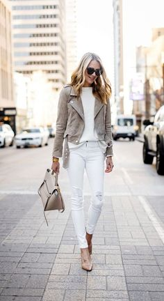 <3 WHITE is my Happy Color <3 45 Non-Boring Casual Business Attire For Women To Wear
