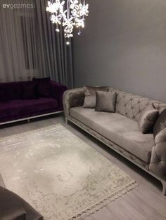 Sophisticated elegance of purple and gray harmony: Hilal lady's hall . - Decoration For Home
