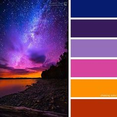Color Pallet. Red, orange, pink, purple and blues. Beautiful colors! Galaxy colors. Galaxy image. galaxy Picture