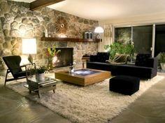 sala-decorada-parede-rustica