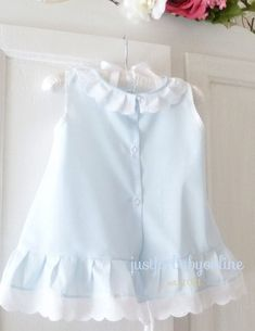 3 to 6 Month Blue Batiste Baby Dress от justforbabyonline на Etsy Boys And Girls Clothes, Dresses Kids Girl, Girl Outfits, Baby Dress Patterns, Skirt Patterns, Coat Patterns, Blouse Patterns, Clothes Patterns, Sewing Patterns